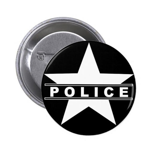 police star text department badge law symbol button | Zazzle