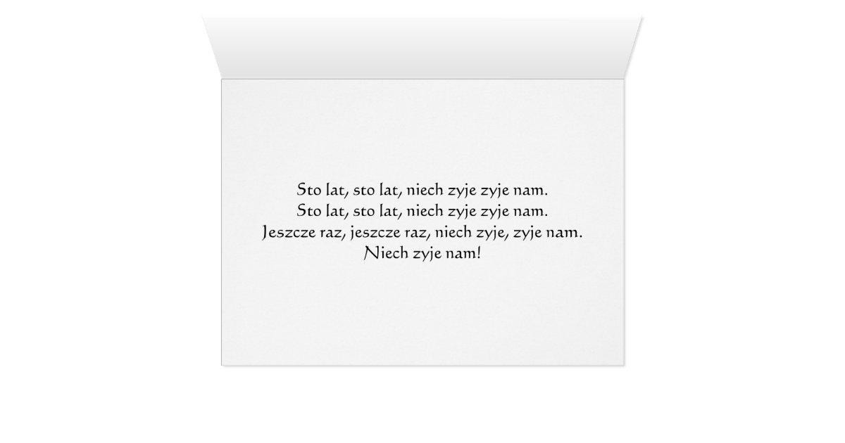 Polish Birthday Greeting Card