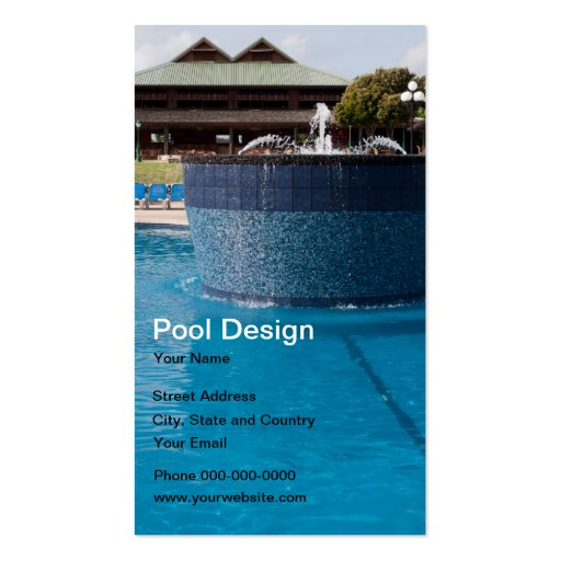 Pool design business card business card templates zazzle for Pool design templates