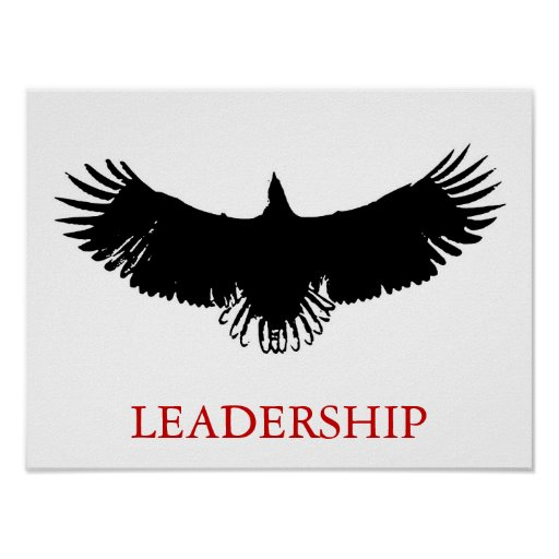 The Eagle Has Landed Quote: Pop Art Leadership Eagle Landing Poster