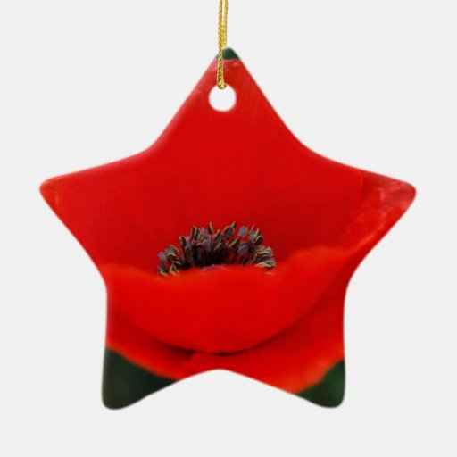 Poppy Flower And Meaning Christmas Tree Ornaments