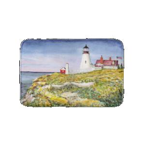 Portland Head Lighthouse Maine Watercolor Painting Bath Mats