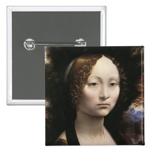 Portrait of Ginevra de Benci Pins | Zazzle