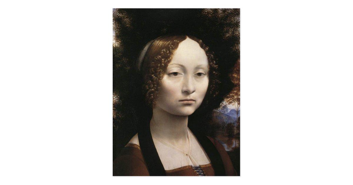 Portrait of Ginevra de Benci Postcard | Zazzle