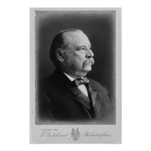 Grover Cleveland Quotes: Portrait Of President Stephen Grover Cleveland Poster