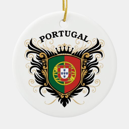 Portugal Double-Sided Ceramic Round Christmas Ornament ...