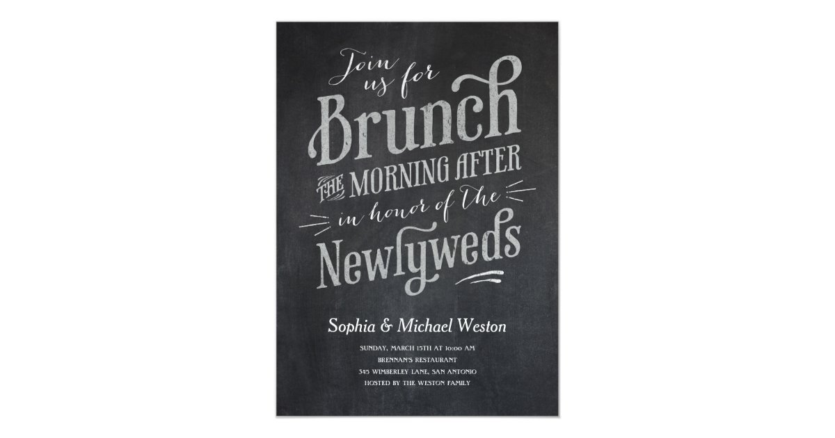 Post Wedding Brunch Invitation Wording