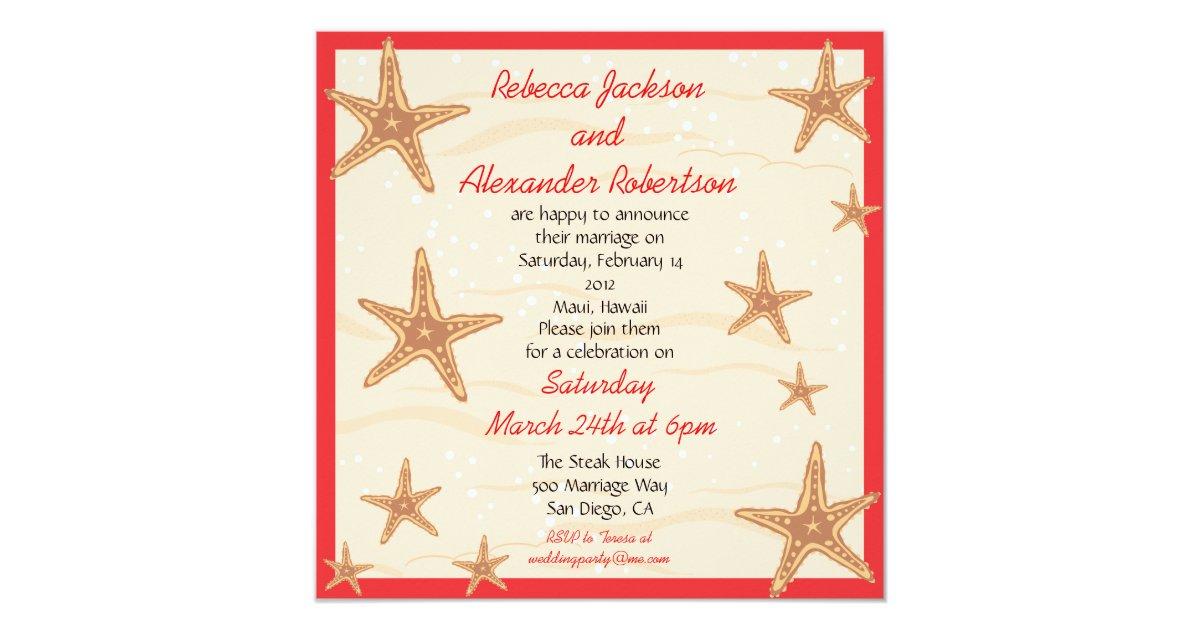 Post Wedding Invitations Reception: Post Wedding Reception Destination Invitation
