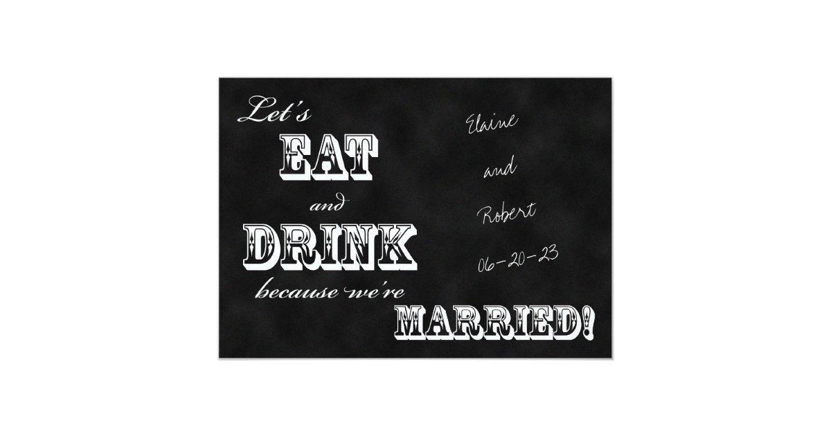 Post Wedding Invitations Reception: Post Wedding Reception Invitation -- Chalkboard