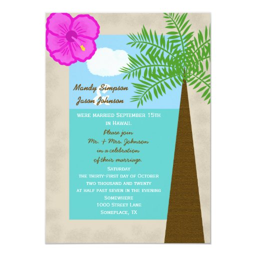 Post Wedding Party Invitation: Post Wedding Reception Invitation -- Tropical