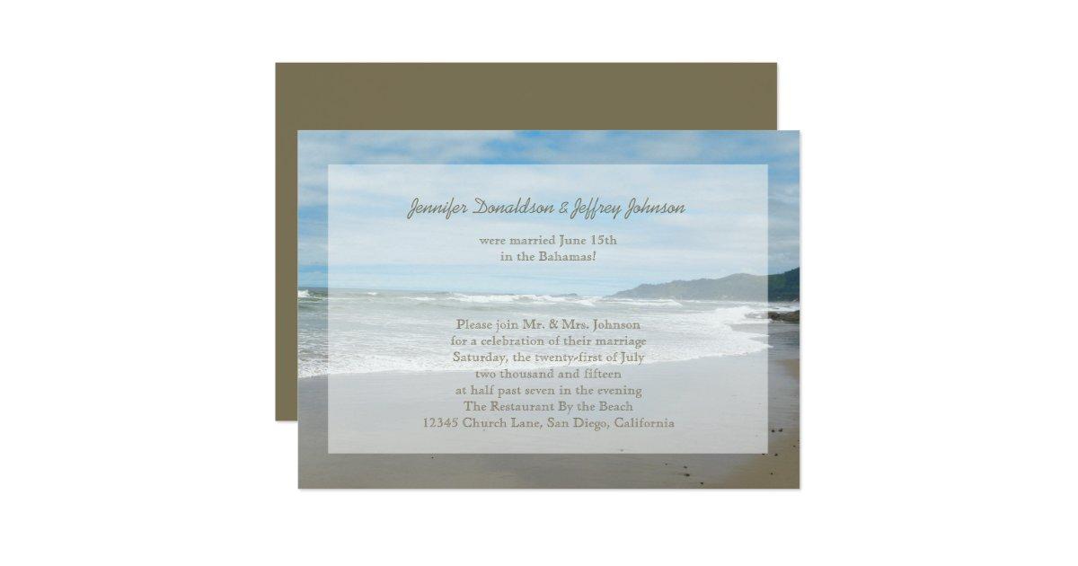Post Wedding Invitations Reception: Post Wedding Reception Invitations