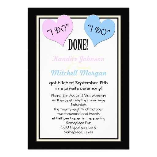 Reception Invitation Wording After Destination Wedding: Post Wedding Reception Invitations, 1,000+ Post Wedding