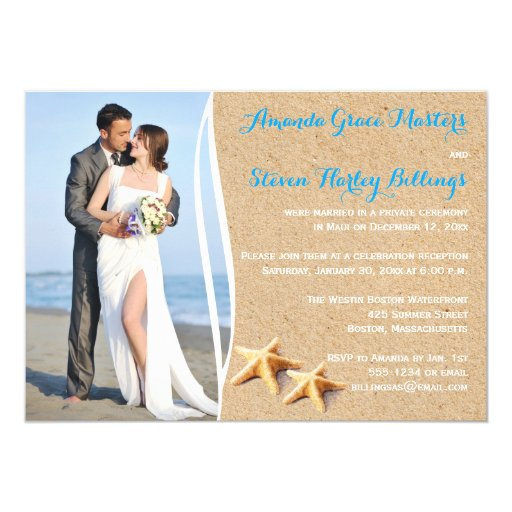 Post Wedding Party Invitation: Post Wedding Reception Only Photo Template Invite