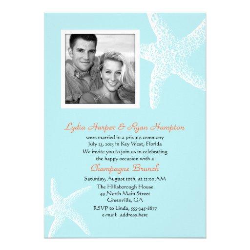 "Reception Invitation Wording After Destination Wedding: Post Wedding Reception Only Tropical Invites 5"" X 7"