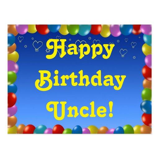 Postcard Happy Birthday Uncle