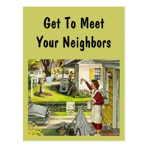 design meet the new neighbors party invitations