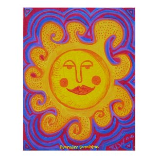 Poster - Everyday Sunshine print