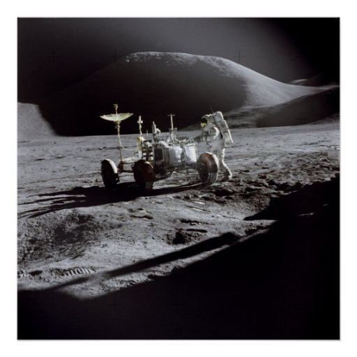 Poster/Print: Astronaut Irwin on Moon Poster   Zazzle