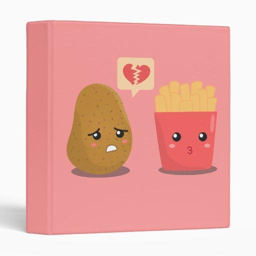 Potato Is Heart Broken Over French Fries Binder