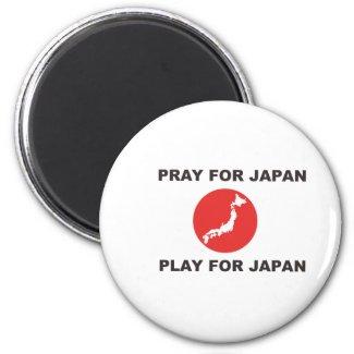 PRAY FOR JAPAN, PLAY FOR JAPAN. magnet