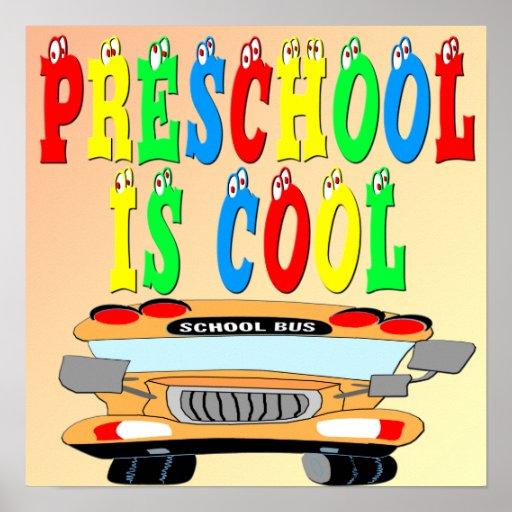 Cool Bus: Preschool Cool Bus Poster