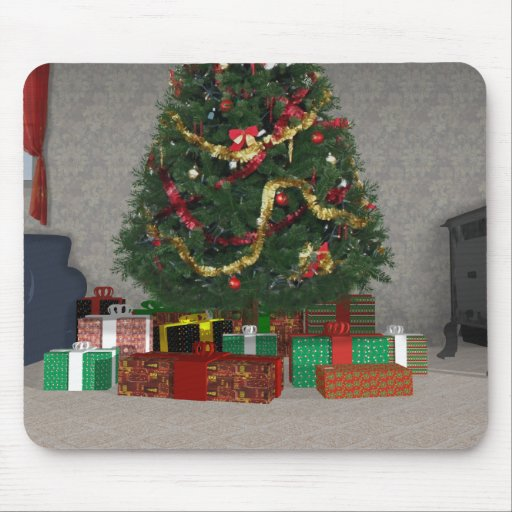 Presents Under The Christmas Tree: Presents Under The Christmas Tree: Mouse Pad