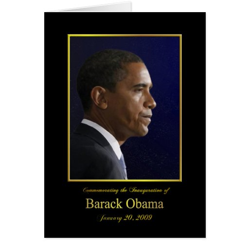 President Barack Obama - Paper Greeting Card
