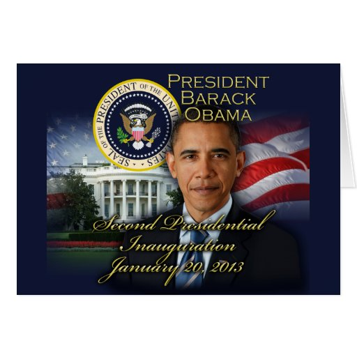President Obama 2nd Inauguration Greeting Card