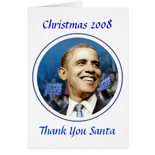 President Obama Commemorative Christmas 2008 Greeting Card