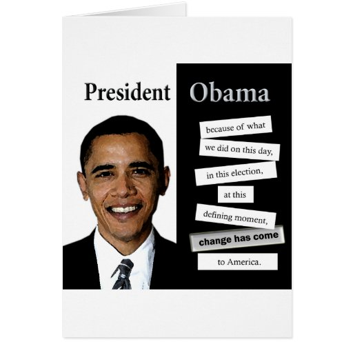 President Obama Quote Greeting Card