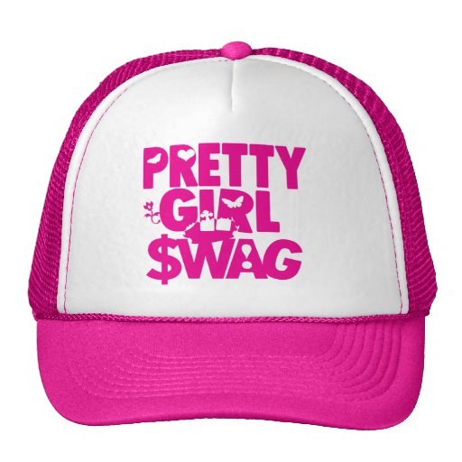 pretty girl swag! trucker hat | Zazzle