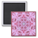 Pretty Pink Rose Kaleidoscope magnet