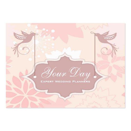 pretty pink wedding planner business cards  zazzle