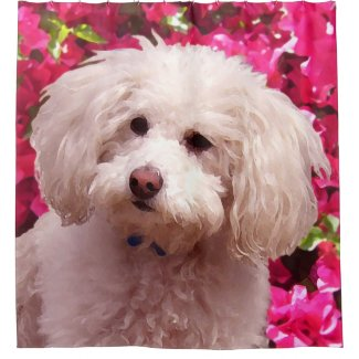 Pretty Poodle Shower Curtain