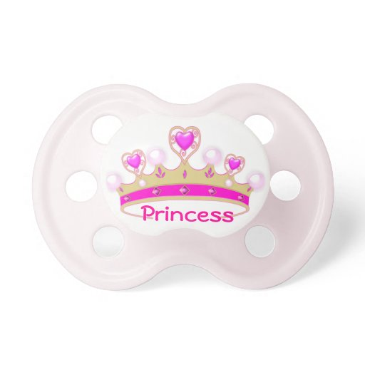 Pretty Princess Crown Baby Pacifier