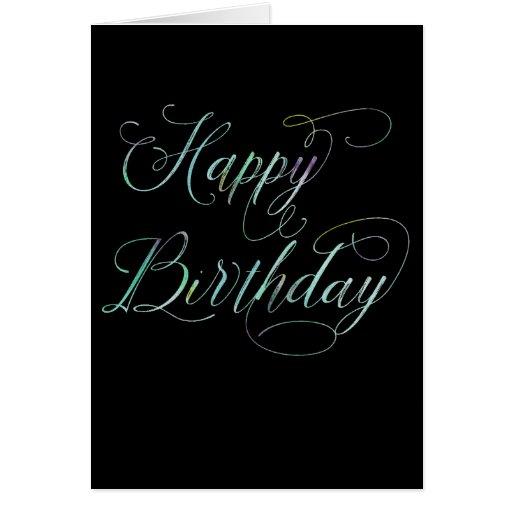 Pretty Script Happy Birthday Card