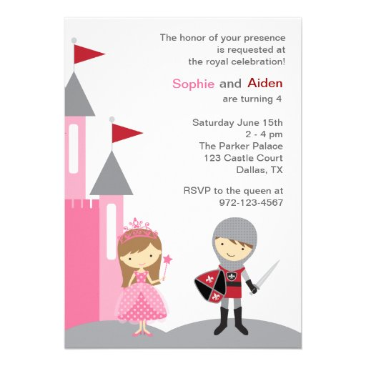 Personalized Twin Birthday Invitations