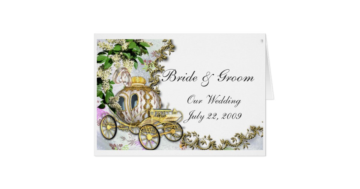 Princess Carriage Wedding Invitation | Zazzle