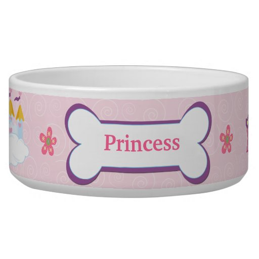 Princess Custom Pet Dog Food Bowl - Pink | Zazzle - photo#9