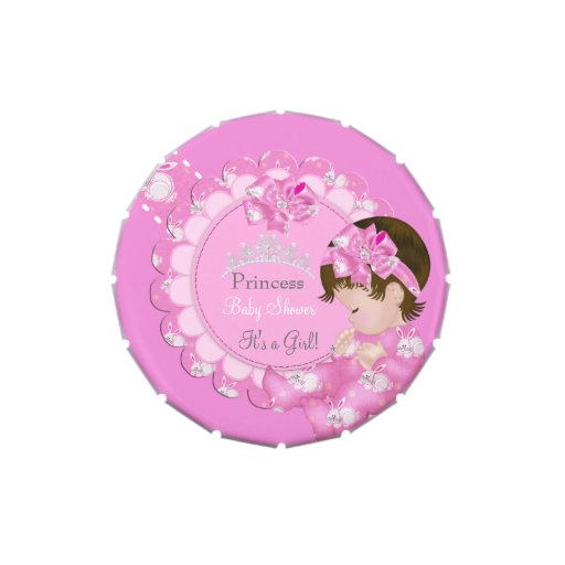 Princess Girl Baby Shower Pink Party Favor Candy Tin