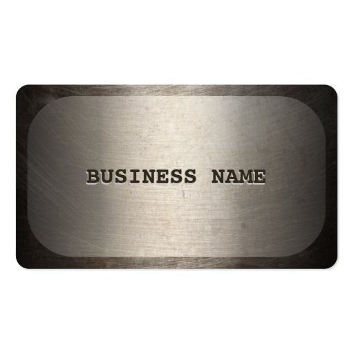 Professional Dog Tag Faux Metal Business Card