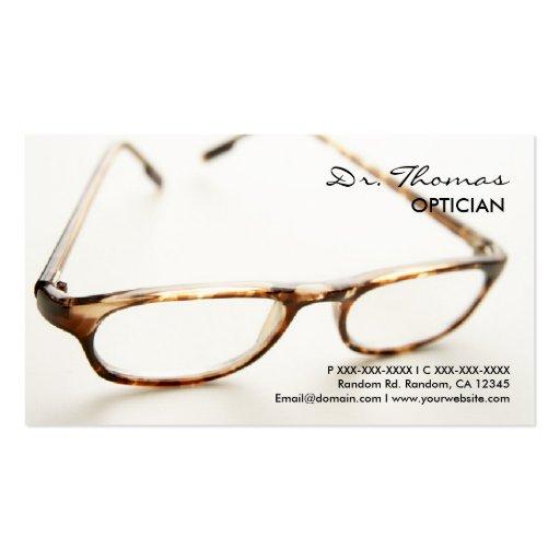 Optician Business Card Templates | BizCardStudio