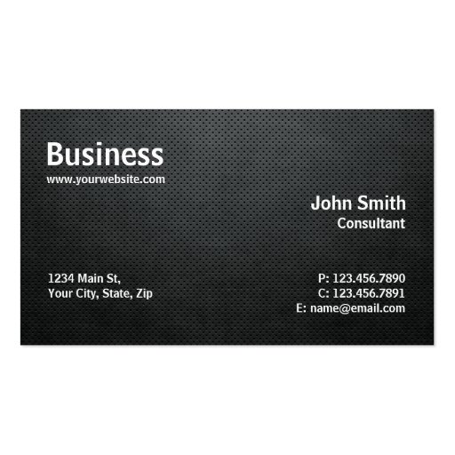 Professional Modern Simple Computer Repair Black Double-Sided Standard ...