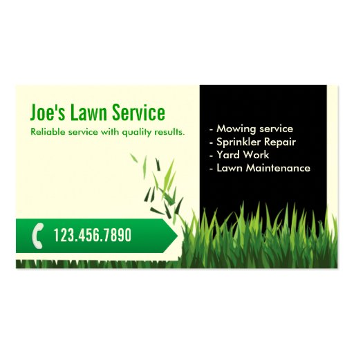 Business plan for lawn mowing companies