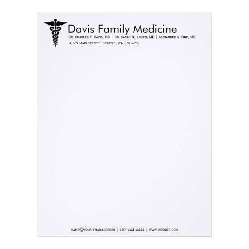 27 Personalized Stationery Templates: Professional Personalized Doctor's Stationery Customized