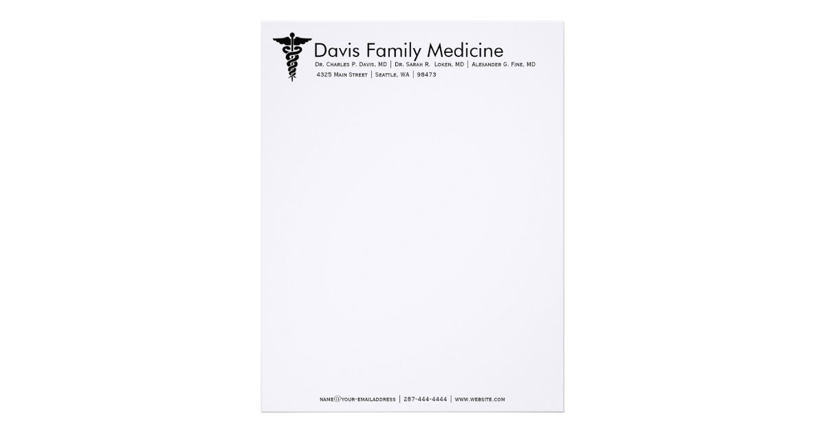 Professional Personalized Doctor S Stationery Letterhead