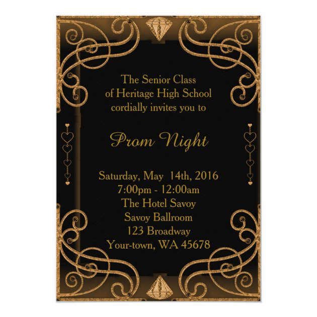 Personalized Great Gatsby Party Invitations