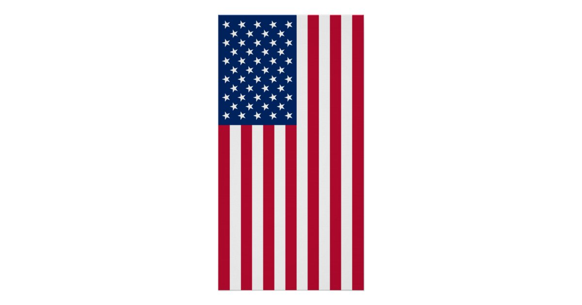 Proper Vertical Display Of The United States Flag Poster