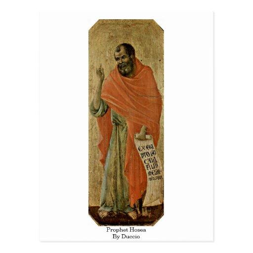 Prophet Hosea By Duccio Postcard