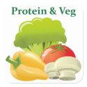 Protein & Veg day sticker sticker